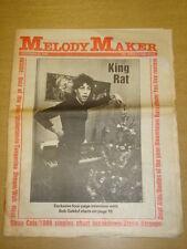 MELODY MAKER 1980 DEC 27 BOB GELDOF STRAY CATS WAH HEAT