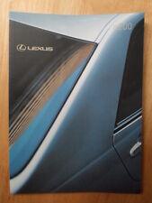 LEXUS IS200 orig 2000 2001 UK Mkt Prestige Sales Brochure - S SE Sport