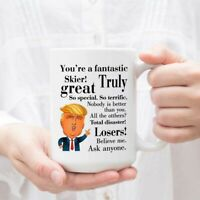 Donald Trump Coffee Mug - Tea Cup Gift Ideas For Skier Birthday Christmas
