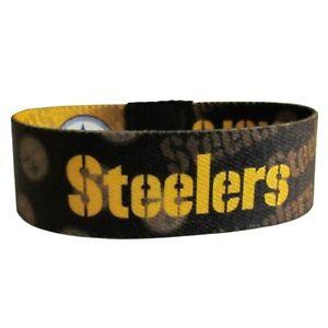 PITTSBURGH STEELERS NFL ELASTIC STRETCH WRISTBAND BRACELET