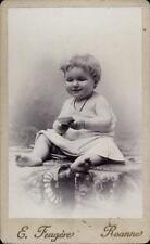 CDV bébé sourire carte  Elie Feugère Roanne portrait photographie ancienne