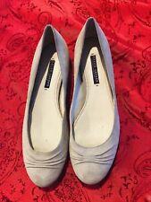 Women's Ralph Lauren Collection Grey Suede Ballet Flats w/ Ruching Size 10B