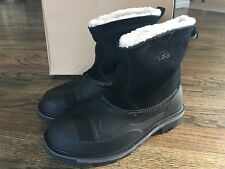 Woolrich Men's Fully Wooly Slip Snow Boot, Black, 13 M US