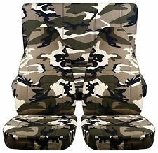 front+back cool URBAN CAMOUFLAGE CAR SEAT COVERS fit 1997-2002 Jeep Wrangler TJ