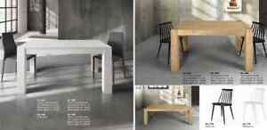 Extendable Table IN Oak Brushed Or Spruce Natural, 2 Extending