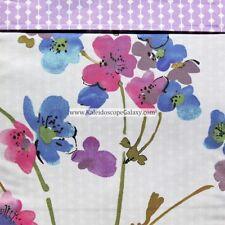 Anne De Solene Garden Dream 6pc King Duvet Cover Floral Purple Pink Blue $1800+