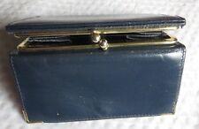Porte monnaie bleu avec armature dorée – 2 pochesmonnaie – 2 poches ouvertes sou