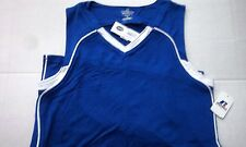 Nwt Womens Russell Athletics Bright Blue & White V-Neck Basketball Jersey Small