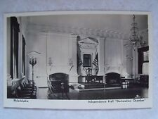 RPPC Philadelphia PA. Independence Hall Declaration Chamber Unused LUTZ Postcard