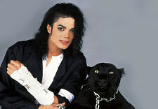 Micheal Jackson' Black Leopard' A3 Art Poster Print