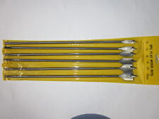 "6 PC 14"" 400mm Extra Long Spade Flat Wood Timber Drill Bore Boring Bits Set"
