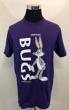 Vtg 90s Bugs Bunny Indiana Looney Tunes T-Shirt Large cartoon hip hop