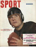 1951 Sport magazine football Johnny Lujack Chicago Bears Mickey Mantle FNL