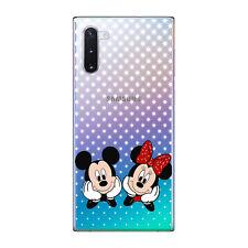 Funda gel dibujo Mickey y Minnie estrellas para Samsung Galaxy NOTE 10 plus