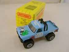 1983 MATCHBOX SUPERFAST #57 BLUE 4X4 MOUNTAIN MAN PICKUP NEW IN BOX
