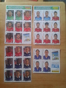 Panini WC Brazil 2014 4 sheets update PORTUGAL, SPAIN, FRANCE, ITALY  - COPY !
