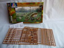 WWII CAMPO DI BATTAGLIA Accessori IN PLASTICA KIT 1:72 MODELLINO ITALERI diorama accessori