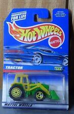 1997 Hot Wheels Tractor 145 Yellow Green