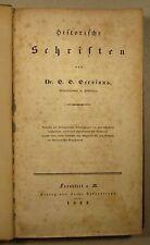 GERVINUS: HISTORISCHE SCHRIFTEN, EA 1833, FLORENZ / MACHIAVELLI / ARAGON