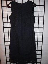 ann taylor navy blue lace sleeveless dress size 0