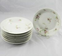 "10 Charles Field Haviland GDA Limoges Soup Bowls Pink Flowers 7-5/8"" France"