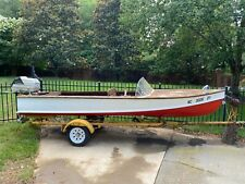 1950 ALL ORIGINAL THOMPSON BROTHERS BOAT MOTOR & TRAILER PLUS ACCESSORIES NR