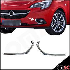 Nebelscheinwerfer Rahmen für Opel Corsa E 2015-2019 Edelstahl Chrom V2A 2 tlg
