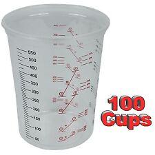 Starchem Plastic Polypropylene Paint Mixing Cups 600cc - Pack 100