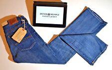 RALPH LAUREN NEW Jeans D&S Madison Crop High Rise Flare Blue Womens W26 L27 BNWT