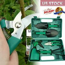 Garden Tool Set 5 Pieces Stainless Steel Portable Gardening Kit with Box G7U5