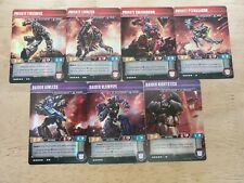 Transformers TCG Wave 3 all Battle Masters & Patrols Collection with Smashdown