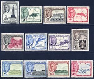 VIRGIN ISLANDS 1952 KING GEORGE VI DEFINITIVE SET TO $4.80 V FINE UNMOUNTED MINT