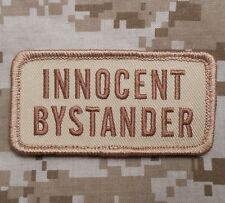 INNOCENT BYSTANDER COMBAT USA ARMY MILITARY DESERT VELCRO® BRAND FASTENER PATCH