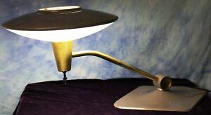 Vintage 1950's Dazor Model #2056 Mid Century Modern Flying Saucer UFO Table Lamp