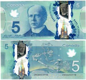 "Canada 5 Dollars 2013 EF ""INC"" Wilkins-Poloz"