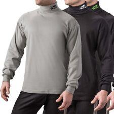 Arctic Cat Men's Aircat Turtleneck Ring Spun Durable Cotton T-Shirt - Gray Black