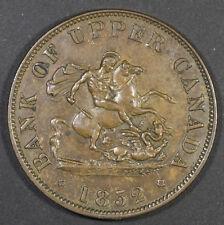 1852 Upper Canada Half Penny Token - Breton #720