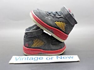 Nike Air Jordan AJF V 5 Black Varsity Red White Toddler TD 2008 sz 2C