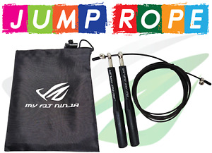Adjustable Jump Rope Ultra Speed Skipping Rope for Gym CrossFit Fitness Exercise