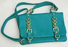 OLIVIA and JOY  New York Ladies Small Shoulder Handbag Petrol Blue + FREE PURSE