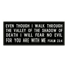 PSALM 23:4 ROCKER EMBROIDERED PATCH CHRISTIAN RELIGIOUS Hook BIBLE VERSE JESUS