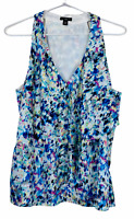 Ann Taylor Petite Womens Multicoloured Sleeveless Lined Blouse Size 12P