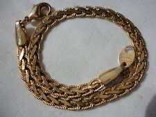 "Pretty signed AVON S H goldplated 6 gram 8"" 4mm intricate deco design bracelet"