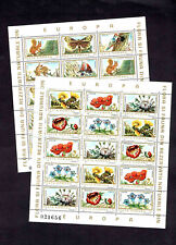 EUROPA CEPT ROMANIA 1983 FLORA & FAUNA 2 SHEETS 30 STAMPS SC 3154-3155 MINT NH
