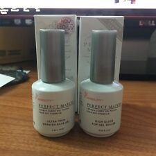 LECHAT PERFECT MATCH DUAL SET Soak Off Gel Polish Base Gel & Top Coat Set 0.5z