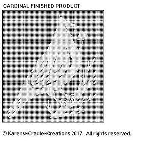 CARDINAL Filet Crochet Pattern