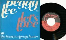 PEGGY LEE 45 TOURS FRANCE LET'S LOVE