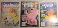 Crochet Home Mini Magazine, Lot of 3 Back Issues - Baby, Toys, Afghans, More!