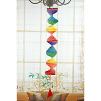 Wind Spinner, Bamboo, Handmade Colorful Hanging Yard Decoration 80x50x8cm