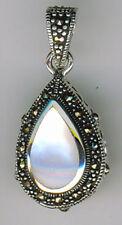 Pearl Sterling Silver Marcasite Fine Necklaces & Pendants